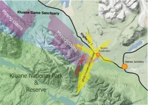 Grizzly bear movement corridors (Source: Yukon Conservation Society)